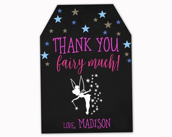 Fairy Favor Tags, Magical Favor Tags, Magical Party Favor Tags, Chalkboard Favor Tags, Magical Favor tags, Personalized Tags