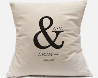 35th Wedding Anniversary Gift For Parents Unique Gift Custom Pillow Cover 100% Cotton Canvas Customize with your information 14x14 and 18x18