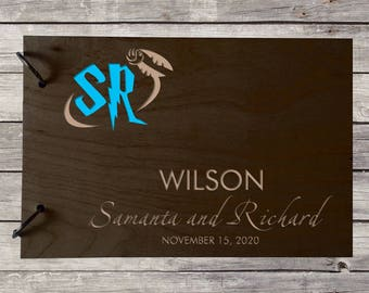 Wedding GuestBook Wooden GuestBook Wedding Gift Personalized GuestBook Monogram GuestBook Letter GuestBook Rustik Guest Book Engraved Wood