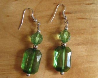 Clear Green Dangles
