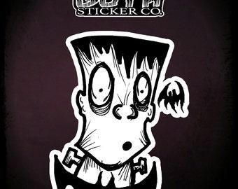 FRANKIE 2 BATS sticker by Goth Goth Sticker Co.