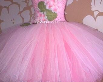 Cherry Blossom Dress, Tutu Blossom Dress, Pink Party Dress, Pink Blossom Costume, Pink Tulle Tutu Dress, Pink Flower Party Dress