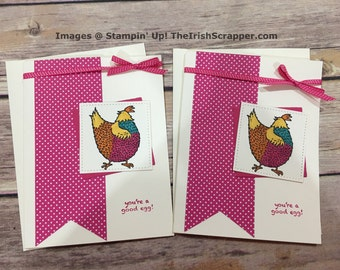 Stampin' Up! Hey Chick | You're a good egg!