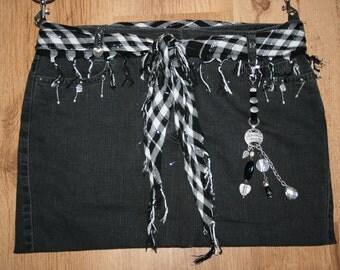 Jeans bag with a black bag, shoulder bag