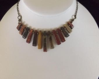 Pillar Necklace with Bronze Chain
