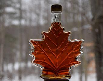 Syrup- Glass Maple Leaf