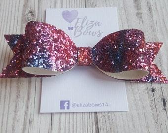 Red hair accessories,red and blue hair bows, hair accessories, hair clips, red hair bow, sparkly hair clips, handmade bows, girls hair bows