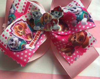 Paw patrol double boutique bow
