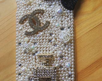 Pearl and bling iPhone 6 Plus case