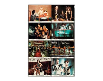Original Rocky Horror Picture Show movie poster, lobby cards  set of  8  Near mint