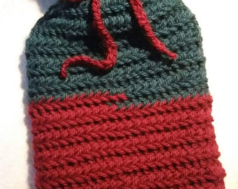 Hot Water Bottle with Nalbinding Cover