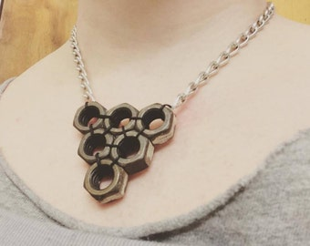 Hex Nut Hardware Necklace