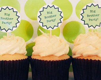 Big Brother Party Cupcake Toppers
