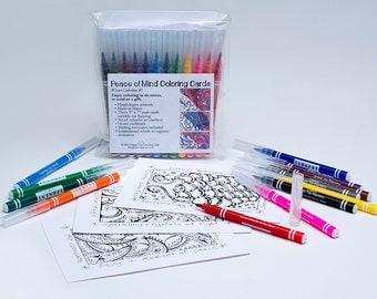 Peace of Mind Coloring Cards
