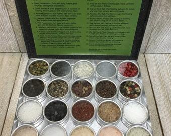 Salt N Pepper | Salt & Pepper Sampler | Around the World | Different Salts | Different Peppers | Salt N Pepper Gift Set | Salt n Pepper Gift