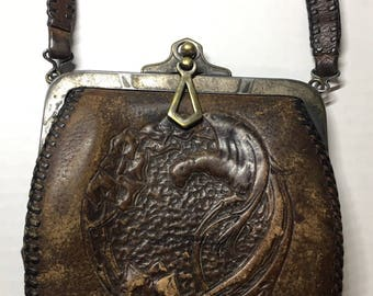 Antique Leather Purse