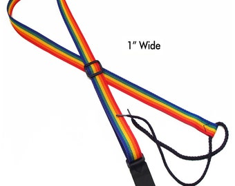 """Legacystraps Mandolin/Ukulele Straps 1"""" Rainbow"""