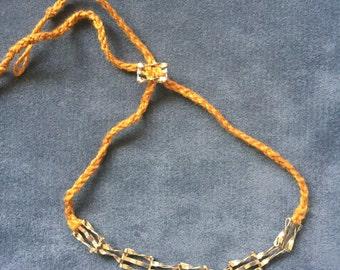9ct Gold Bracelet Vintage Handmade Braided Victorian Gate Jewlery