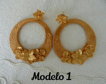 Hoop earrings, earrings Flamenca, flamenco earrings