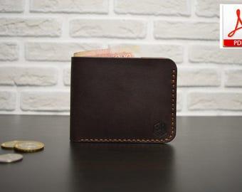 Leather Bifold wallet pattern