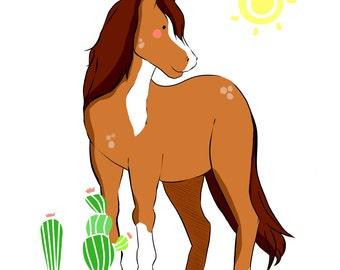 Horse - Digital Illustration // little animals collection