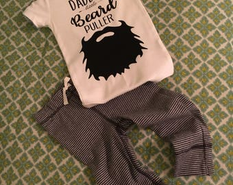 Daddy's little Beard Puller, Daddy's Beard Puller, Baby Onesie, Beard Onesie, Daddy Onesie, Beard, Daddy