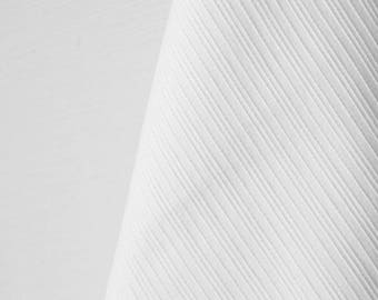 Textured White Lines Stretch Fabric