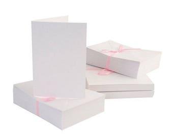 Cards invitation cards + envelopes wedding birthday white A6