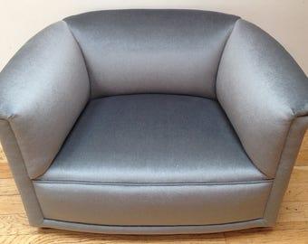 Ward Bennett for Brickel Assoc. club chair MCM mohair velvet newly reupholstered vintage modern Eames era vintage