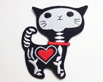 X-ray cat patch Cat iron on patch