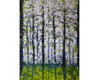 Spring Forest Original Oil Painting on Canvas