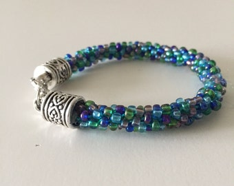 Green and Blue Beaded Bracelet