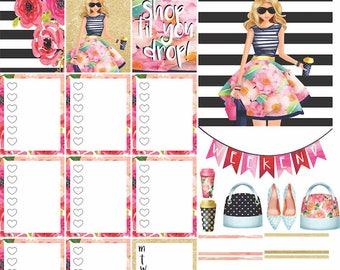 PRINTABLE PLANNER STICKERS (weekly kit) - Kate Spade / Barbie Girl