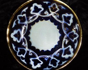 "beautiful traditional uzbek ceramic pottery large plate dish ""lyagan"" pakhta new!!!"