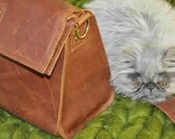 "Leather bag ""retro"""
