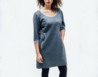 Koko dress, dress, women's dress, scuba, grey