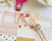 Velvet Embellished Planner Clip Party Favor Gift