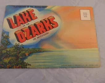 Vintage Lake of the Ozarks Missouri Fold Out Post Card Letter
