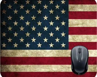 American Flag mouse pad Rustic decor Mousepad Custom mouse pad American Flag shirt Country decor USA mouse pad American home decor