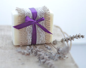 Lavender soap, hand made cold process all natural soap with lavender essential oil, gentle for sensitive skin