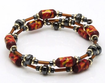 Indefatigable Capacity (Upcylced Paper Bead Bracelet/HP0076)