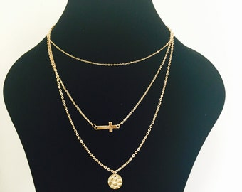 Multi Layer Necklace with Pendants
