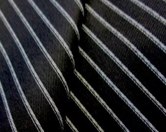 5 Yards Twill Stripe on Black Fabric