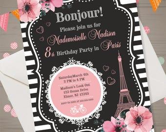 Paris invitation etsy solutioingenieria Choice Image