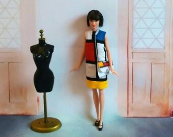 Vintage Barbie clothes, Barbie clothes, Barbie doll clothes, Retro Barbie clothes, Barbie outfit, Barbie Dress, Barbie handbag, Barbie purse