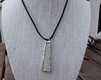 Pale Yellow Holographic Trapezoid Necklace