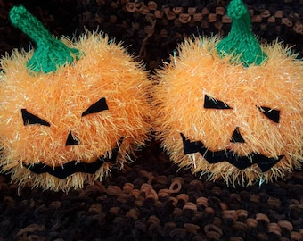 Hand Knitted Pumpkins