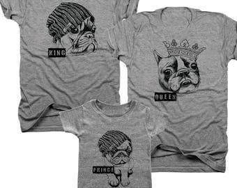 3-Pack King, Queen, Prince t-shirt set  (B088)