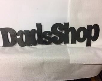 Dads Shop Sign