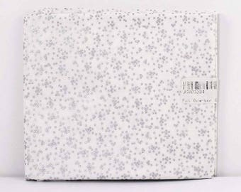 Fat Quarter Fabric, Sparkle Silver Holiday Dots, 100% Cotton Fabric, One Fat Quarter, 18in x 22in, Quilting Sewing Fabric, Quilt Pieces